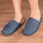 Footwear & Hosiery - Denim Slide-On Slippers
