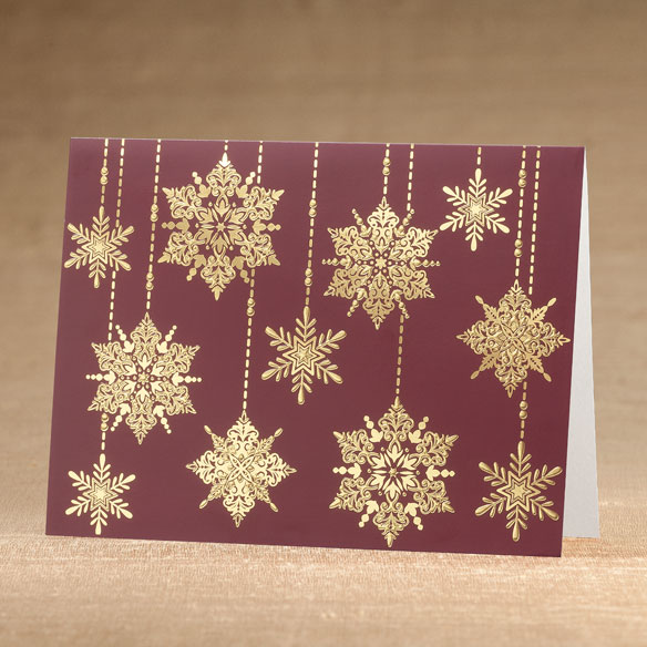 Frosted Droplets Holiday Cards - Set of 18