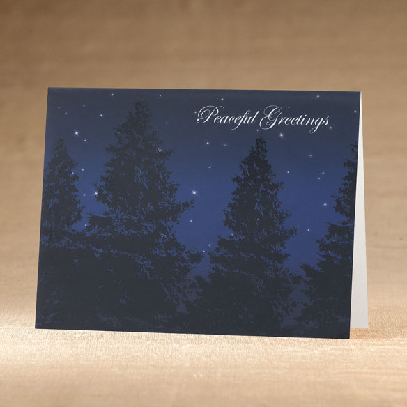 Peaceful Evening Holiday Cards - Set of 18