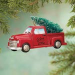 Ornaments - Personalized Red Truck with Tree Ornament