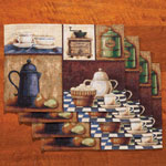 Morning Cup Placemats, Set of 4