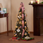 Decorations & Storage - 4-Foot Fully Decorated Victorian Pull-Up Tree