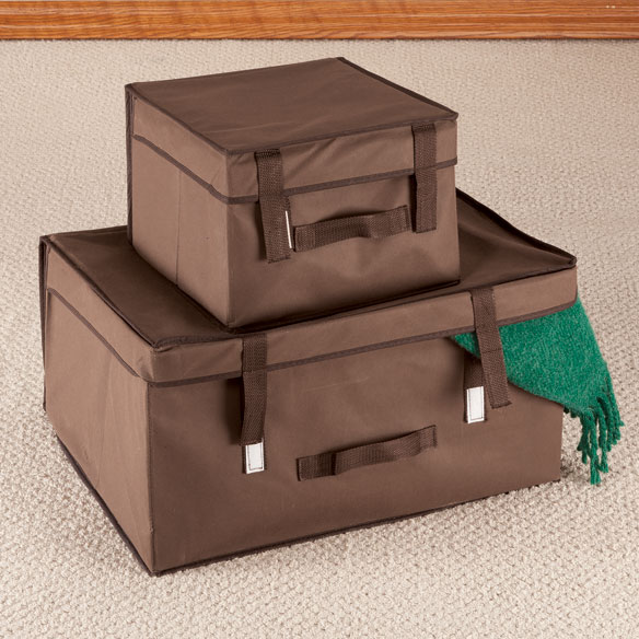 Collapsible Storage Bins, Set of 2