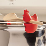 Gadgets & Utensils - Red Silicone Chicken Utensil Pot Clips - Set of 2
