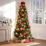 Decorations & Storage - 6-Foot Easy-Up Decorated Glitter Pine Tree