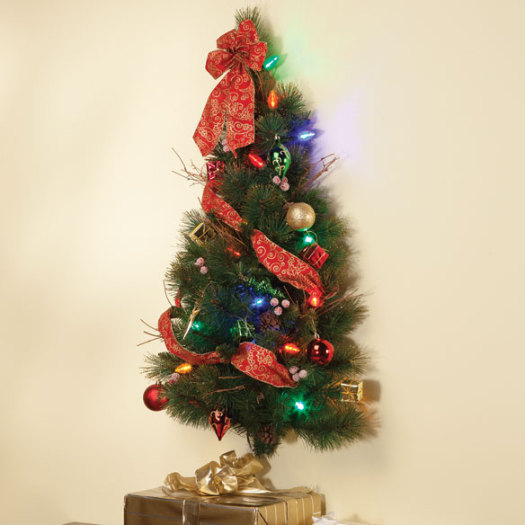 3-Foot Decorated Glitter Wall Tree