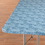 New - Marbled Elasticized Banquet Table Cover