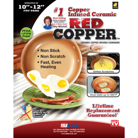 As Seen On TV Red Copper Pan™