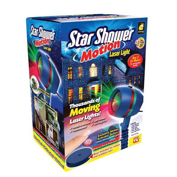 As Seen On TV Star Shower Motion Laser Light