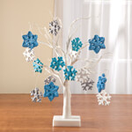 Decorations & Storage - Glitter Snowflake Christmas Ornaments, Set of 16