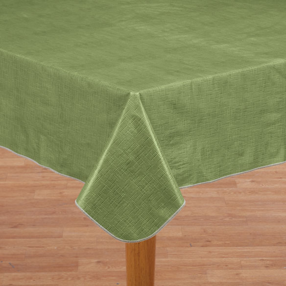 Illusion Weave Vinyl Drop Table Cover - View 1