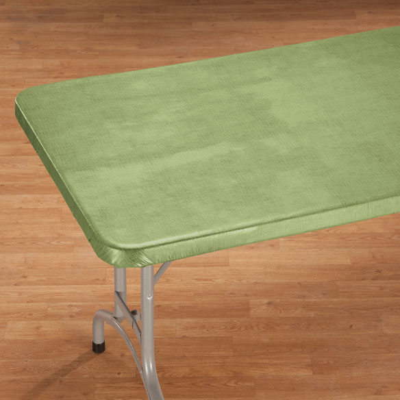 Illusion Weave Vinyl Elasticized Banquet Table Cover