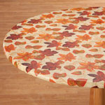 Table Top & Entertaining - Autumn Leaves Elasticized Vinyl Table Cover