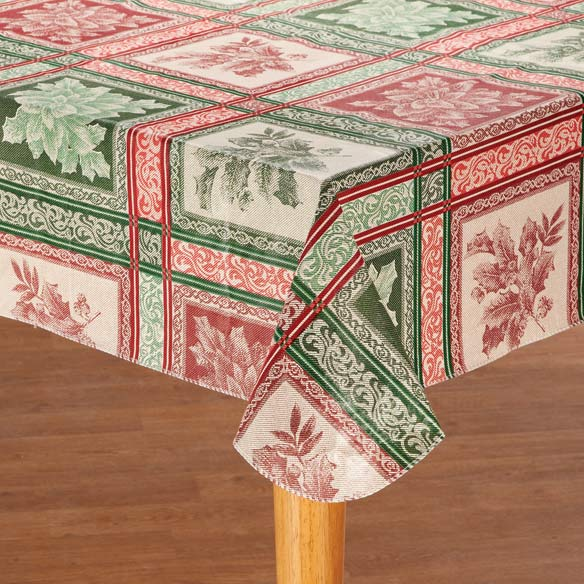 Festive Jacquard Vinyl Table Cover