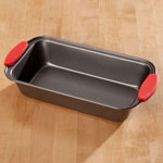 Home-Style Kitchen - Loaf Pan with Red Silicone Handles
