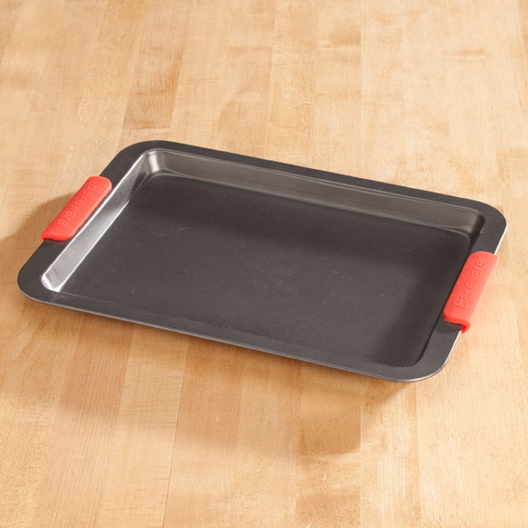 Baking Sheet with Red Silicone Handles - View 1