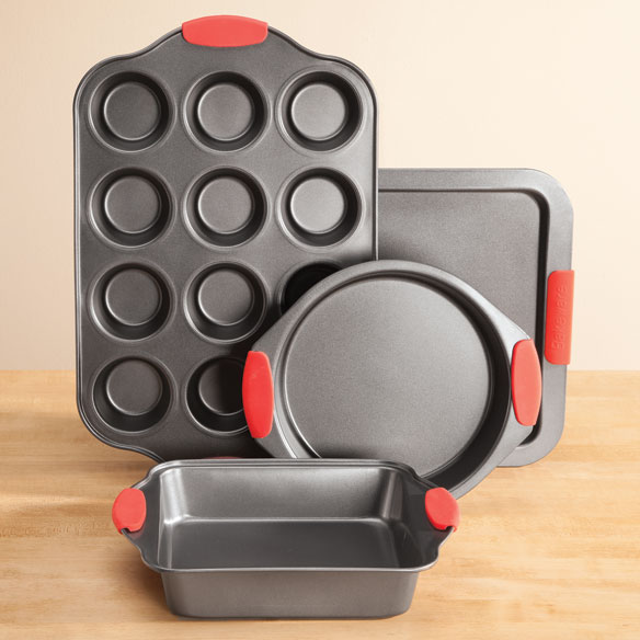 Baker's Essentials Baking Set with Red Silicone Handles