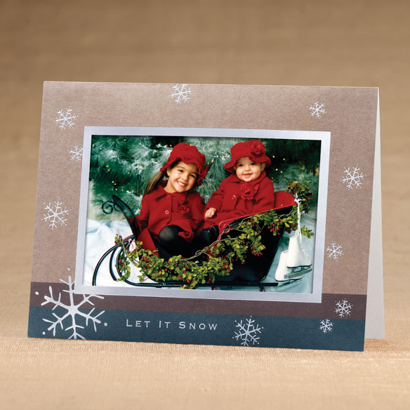 Let It Snow Holiday Cards - Set of 18 - View 1