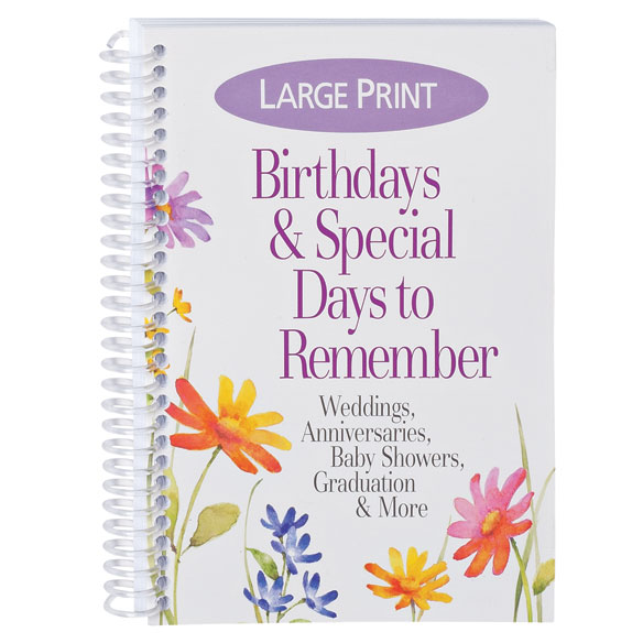 Large Print Birthdays & Special Days to Remember