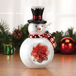 Decorations & Storage - Glass Snowman Table Piece