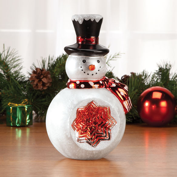 Glass Snowman Table Piece