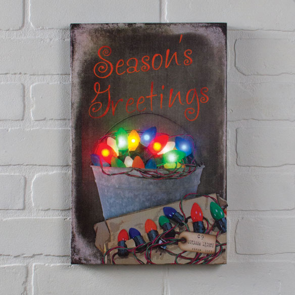 Lighted Vintage Bulbs Canvas