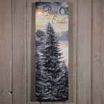 Decorations & Storage - Lighted Peace On Earth Canvas
