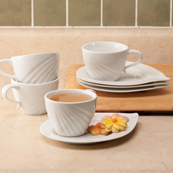 Cup and Saucer Set, 8 Piece