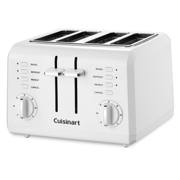 Cuisinart® 4-Slice Compact Plastic White Toaster