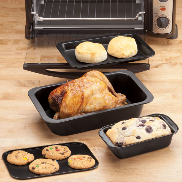 Toaster Oven Basic Pans Set of 4 by Home-Style Kitchen™