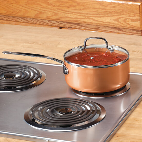 Ceramic Non-Stick Sauce Pan with Lid, 3 Qt.