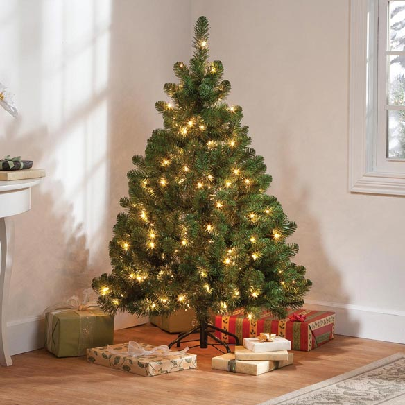 4.5' Pre-lighted Oregon Fir - View 1