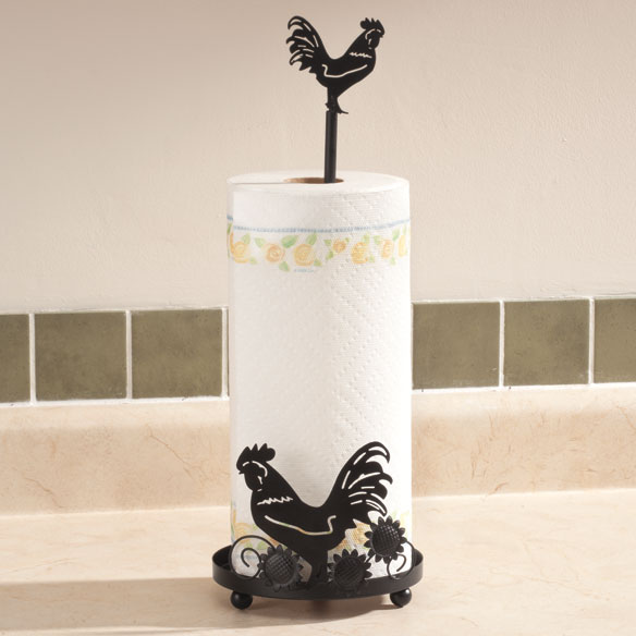 Rooster Paper Towel Holder - View 1