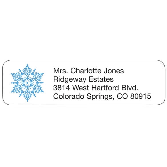 Personal Design Labels Snowflake Set of 200