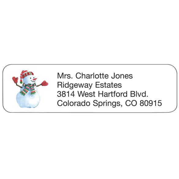 Personal Design Labels Snowman Set of 200