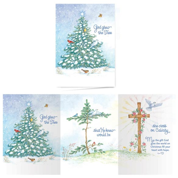 God Grew the Tree Non-Personalized Card Set of 20 - View 1