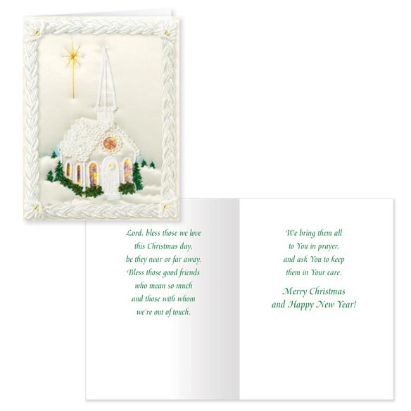 Satin Chapel Non-Personalized Card Set of 20 - View 1