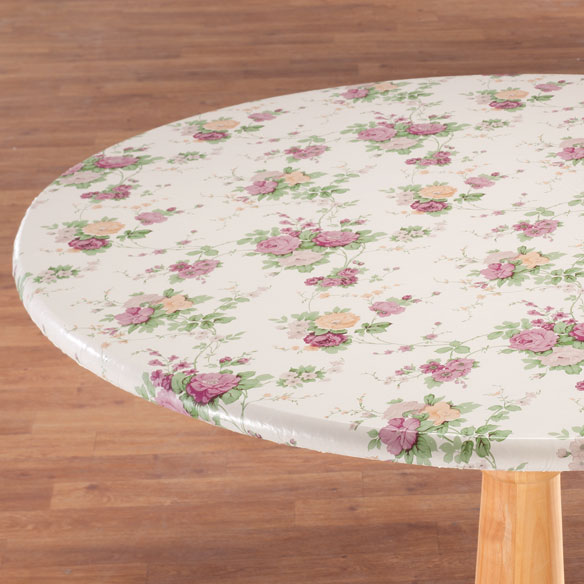 Vintage Floral Vinyl Elasticized Tablecovers by Home-Style Kitchen™ - View 1