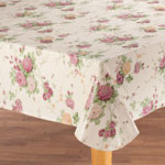 New - Vintage Floral Vinyl Tablecovers by Home-Style Kitchen™