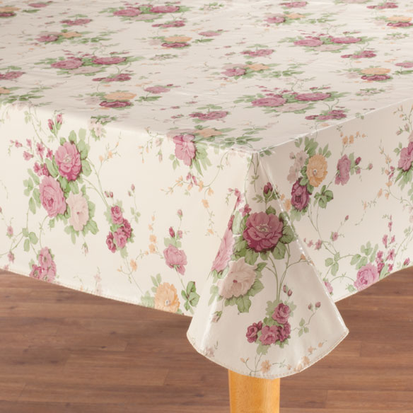Vintage Floral Vinyl Tablecovers by Home-Style Kitchen™