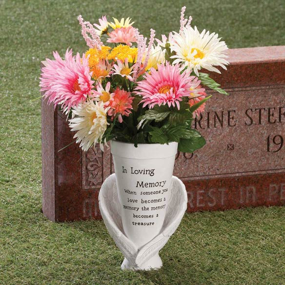 Resin Memorial Cemetery Vase by Maple Lane Creations™ - View 1