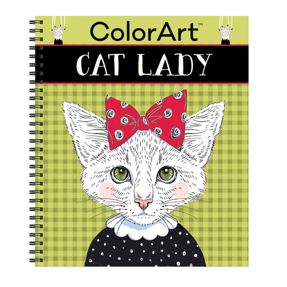 Color Art Cat Lady Coloring Book