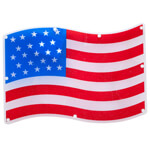 Decorations & Storage - American Flag Shimmer Light