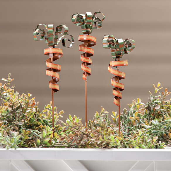 Carrot Planter Stakes by Maple Lane Creations™, Set of 3