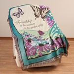 Decorations & Accents - Butterfly Garden Tapestry Throw by OakRidge Comforts™