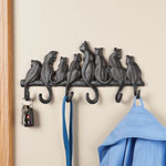 OakRidge Accents - Cast Iron Cat Wall Hooks by OakRidge Accents™