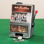 Gifts for Him - Small Slot Machine with Lights and Bank