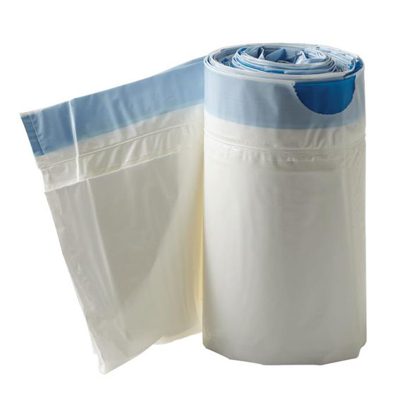 Commode Liners with Absorbent Pad, Box of 12