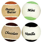 Pets - Assorted Flavored Tennis Balls, Set of 4