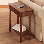 New - Chairside Table with USB Power Strip by OakRidge Accents™